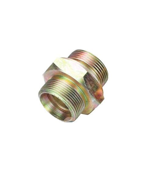 昆山卡套式锥螺纹对接直通管接头(16MPa)